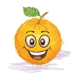 Happy orange fruit vector