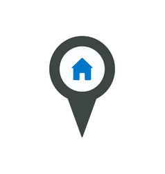 Home location marker pin place point position icon vector