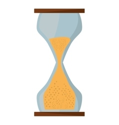Hourglass sand isolated icon vector