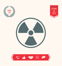 ionizing radiation icon vector image