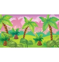 Jungle Game Background vector image