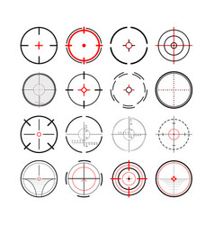 large set different military crosshairs gun vector image