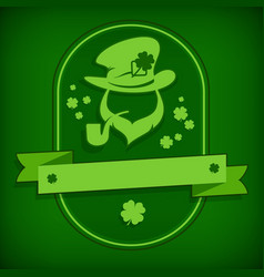 leprechaun template in green vector image