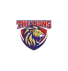 lion head esport gaming logo vector image