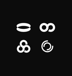 Logo circular economy vector