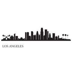 Los Angeles city skyline silhouette background vector