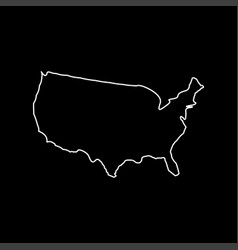 Map of america white color icon vector