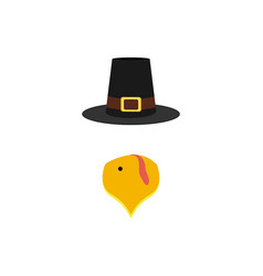 mask turkey beak and hat vector image