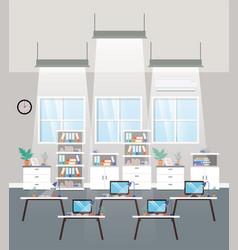 modern office workplace teamwork scene vector image