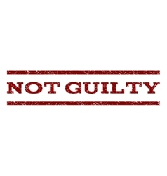 Not Guilty Watermark Stamp vector