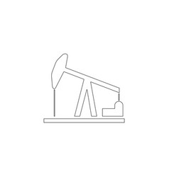 oil pump flat icon vector image