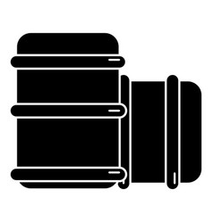 Paintball barell equipment icon simple style vector