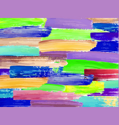 painting background of a colorful brush stroke oil vector image