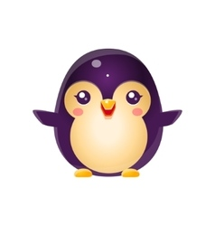 Penguin baby animal in girly sweet style vector