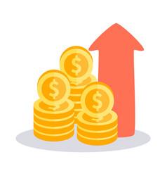 Profit money icon vector