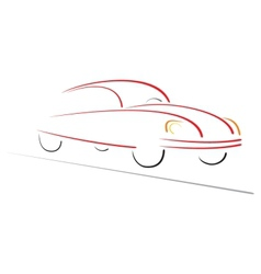 Racing car on road vector image
