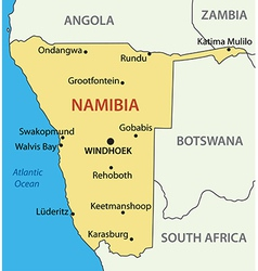 Republic of Namibia - map vector image