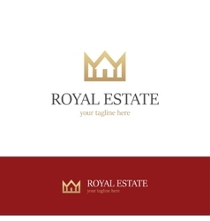 Royal estate logo on white background vector image