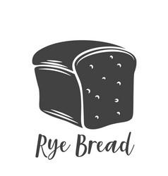 rye bread glyph icon vector image