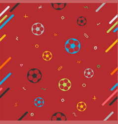 seamless pattern background for soccer or vector image