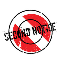 Second notice rubber stamp vector