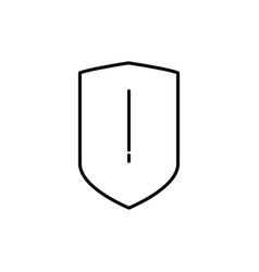 security alert icon vector image