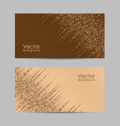 Set banners with dots vector