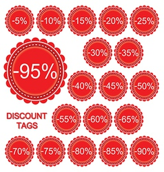 Set discount tags vector
