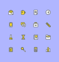 Set of modern flat line icons Business icons vector