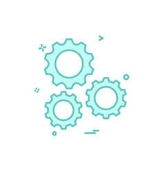 setting gear tools icon design vector image