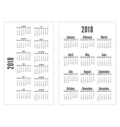 simple black and white pocket calendar years vector image