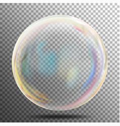soap bubble transparent realistic bubble with vector image