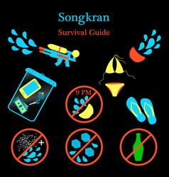 Songkran new year in thailand vector