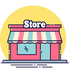 store flat icon vector image