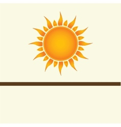 Sun over white vector image