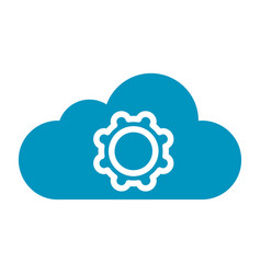 Thin line cloud setting icon vector