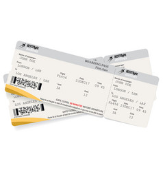 Two boarding pass tickets vector