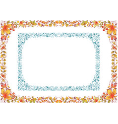 Two floral frame vector