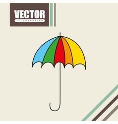 umbrella drawn icon design vector image