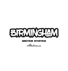 United states birmingham alabama city graffitti vector