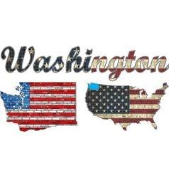 USA state of Washington on a brick wall vector image