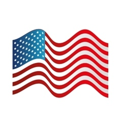 usa symbol flag isolated design vector image