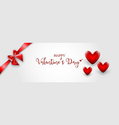 valentines day background with red heart vector image