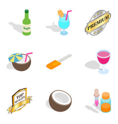 Vitamin deficiency icons set isometric style vector