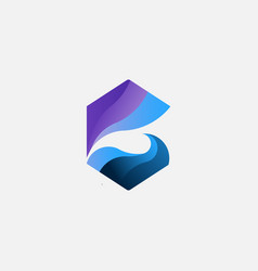 Wave logo design vector