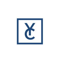 yc logo designs vector image