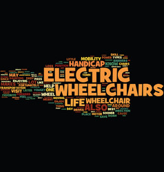 electric wheelchair what about them and how to vector image
