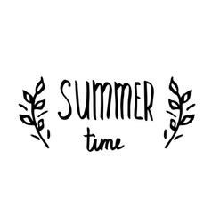 hello summer - hand drawn brush text handmade vector image vector image