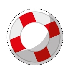 life guard float isolated icon vector image