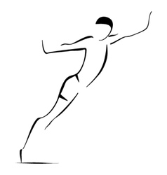 Man jumpping vector image